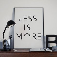 Minimalist Poster Printable Quotes LESS IS di DamaDigitalDesign