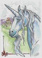 """""""Blue Unicorn 2"""" by zhouzhou."""