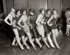 "November 24, 1925. Washington, D.C. ""Uncle Sam's Follies."" A few of these women scare me."