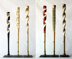 Dutch Baseball: Artist Peter Schuyff Carves Old Baseball Bats Into Extraordinary Spiraling Sculptures