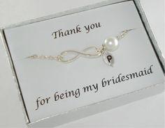 Infinity Bracelet Bridesmaid Bracelet by DazzlingJewelryBox, $21.00