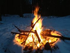 The Simple Way To Start A Fire In The Snow