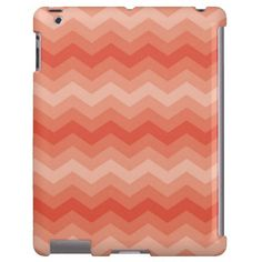 Orange Peach Chevron iPad case