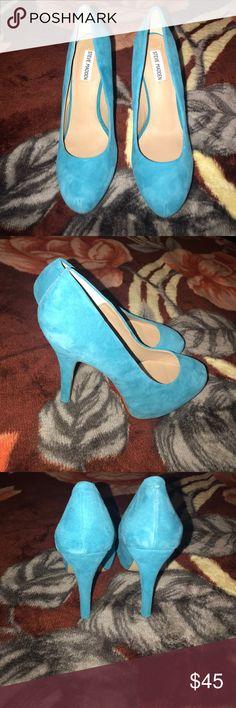 Steve Madden Traisie Suede Heels 😍😍 Very cute Steve Madden suede turquoise blue heels with hidden platform😍😍 🤗🤗BRAND NEW NEVER WORN 🤗🤗 Steve Madden Shoes Heels