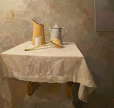 stilllifequickheart:    Alex Fowler  Still Life with Ladle  21st century
