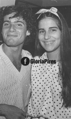 """Gloria Pires publica foto antiga ao lado do ator Lauro Corona, na novela """"Direito de Amar"""", de 1987"""