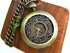Airship Pirate Pocket Watch.  Art inspired gifts on Etsy