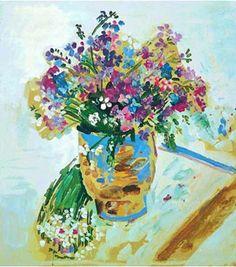 Βάζο με βιολέτες < Zoumboulakis Galleries | www.zoumboulakis.gr