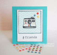 Lawn Fawn card using new sweet dots by V's sweet ideas