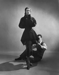 Charles James with Model by Cecil Beaton, 1943