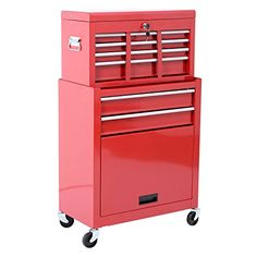 HomCom Deluxe Rolling Tool Cabinet Chest with 6 Drawers and Removable Tool Box – Red  http://www.handtoolskit.com/homcom-deluxe-rolling-tool-cabinet-chest-with-6-drawers-and-removable-tool-box-red-2/