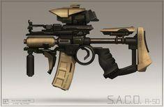 ArtStation - Compact assault rifle, Gregory Trusov