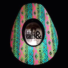 Love this neon tribal hat by Glam   Grit Western Hats a0c5a36eb44b
