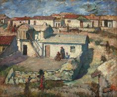 Tatar Quarter in Balcic - Samuel Mutzner Art Database, Impressionism, Landscape, Artwork, Salt, Bucharest, Romania, December, Paintings