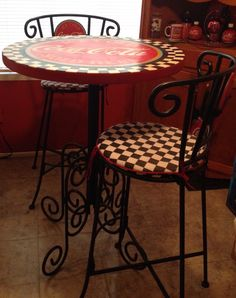 1000 images about coca cola furniture bedding on pinterest coca cola coca cola kitchen and - Coca cola table and chairs set ...