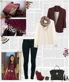 """""""Leopard + Circle Scarves"""" by annikawilson ❤ liked on Polyvore"""