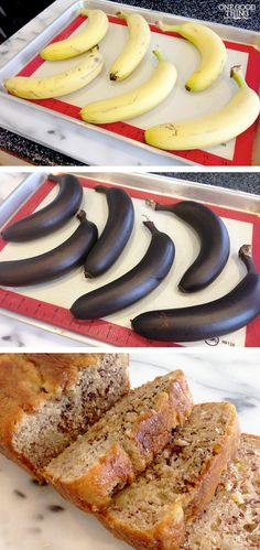 How To Quickly Ripen Bananas For Making Banana Bread! #bananabread #bananas