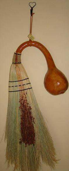 Chris Robbins. Gourd handled broom
