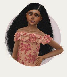 Sims 4 Curly Hair, Sims 4 Hair Male, Sims 4 Black Hair, Sims Hair, Sims 4 Toddler Clothes, Sims 4 Cc Kids Clothing, Toddler Hair Bows, Toddler Outfits, Toddler Girls