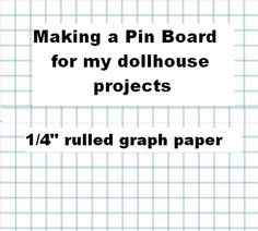 Print and make a record book for a dolls house printable what is a pin board and how do you make one click on link asfbconference2016 Choice Image