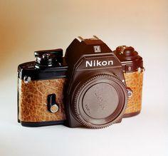 Nikon EM Body / Brown Leather Skin / 35mm Film SLR / LightBurn Restored Vintage Camera / £39.99
