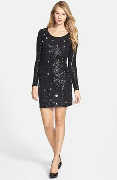 kensie Paillette & Sequin Jersey Dress available at #Nordstrom