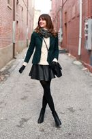 Cute blazer and skirt combo for fall or winter!