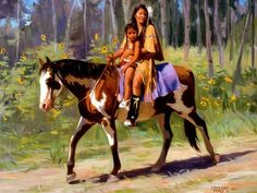 Kindred Spirits - American Indian horse, American Indians