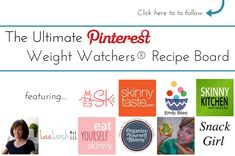 The Ultimate Weight Watchers Pinterest Board!!! Tons of weight watchers recipes from amazing food bloggers. Weight watchers points plus and nutritional information (when available) is included in descriptions. This is going to be so helpful for people looking for weight watchers recipes!