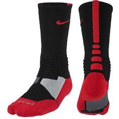 Nike Mens HYPER Elite Power up Basketball Crew Socks Red M for sale online Nike Elite Socks, Nike Socks, Sport Socks, Men's Socks, Nike Basketball Socks, Basketball Stuff, Basketball Workouts, Basketball Drills, Basketball
