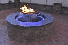 Evolution 360 Gas Fire Pit Water Feature (back yard fire pit)