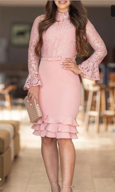 There are 2 tips to buy dress, midi lace, pink dress. Elegant Dresses, Cute Dresses, Beautiful Dresses, Short Dresses, Formal Dresses For Women, Pink Lace Skirt, Lace Dress, Pink Dress, Buy Dress