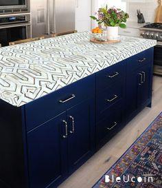 Bristol Kitchen Bathroom Backsplash Tile Wall Stair Floor | Etsy Blue Kitchen Cabinets, Kitchen Chairs, Kitchen Shelves, Kitchen Countertops, Kitchen Backsplash, Kitchen Furniture, Kitchen Storage, Vinyl Panels, Flooring For Stairs