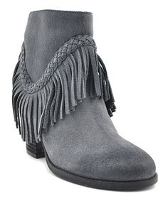 Love this Gray Patience Leather Bootie on #zulily! #zulilyfinds