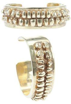 Bert Industries cuff from Farfetch Gold Braces, Dental Art, Dental Life, Dental Teeth, Jewelry Art, Fashion Jewelry, Jewellery, Dental Jewelry, Dental Fillings