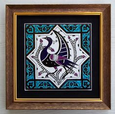 SELJUK PATTERN CERAMİC TİLE Ceramic Birds, Ceramic Pottery, Ceramic Art, Turkish Art, Turkish Tiles, Glass Painting Designs, Paint Designs, Turkish Pattern, Antique Tiles
