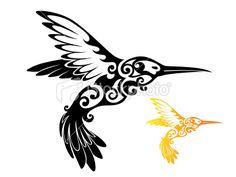 tribal hummingbird tattoo - Google Search