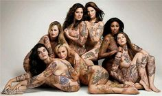 Body Image is something I struggle with everyday. I love this picture so much because these ladies are beyond beautiful and sexy and they are plus size models. Be beautiful in your own skin, in your own way. Sexy Tattoos, Girl Tattoos, Tattos, Woman Tattoos, Tattoo Video, Crystal Renn, Glamour Magazine, Magazine Photos, Girls Magazine