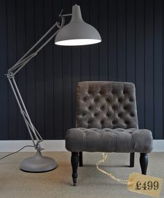 This tall design of floor standing anglepoise lamp with chrome this tall design of floor standing anglepoise lamp with chrome finish can bring vintage and industrial style to any room interior lamp lighting aloadofball Image collections
