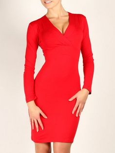 02496b76888 Alluring V Neck Plain Bodycon-dress Bodycon Dresses from fashionmia.com  High Waist