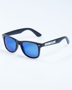 OKULARY CLASSIC BLACK MAT ONLY BLUE MIRROR 828   OKULARY OKULARY Blue Mirrors, Sunglasses, Classic, Black, Derby, Black People, Sunnies, Shades, Classic Books