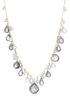 Freshwater Pearl, Labradorite, Iolite & Moonstone Necklace - Candela | Hautelook S60
