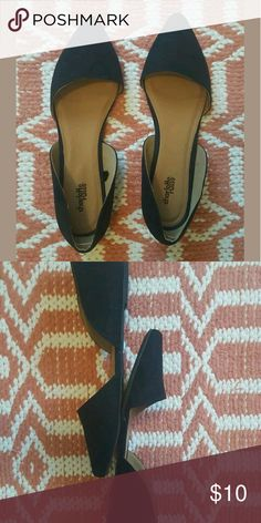 Charlotte Russe Womens black flats Black pointed toe flats. Worn only once for kess than an hour. No damage still with stickers :) Charlotte Russe Shoes Flats & Loafers
