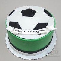 Balón de fútbol (fondant plana)
