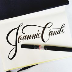 For @joanniecandi one of the peoplw here that I admire #calligrafikas #brushpen