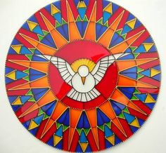 Spiritual Images, Religious Images, Stained Glass Art, Mosaic Glass, Mandala Art, Pista Shell Crafts, Bible Stories For Kids, Cd Crafts, Art Painting Gallery
