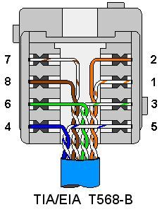cat6 plug wiring diagram painless 10202 color coding cat 5e and 6 cable straight through cross over how to wire a rj 45 jack