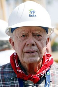 """Jimmy Carter Helps Habitat For Humanity Build 1000th Home In New Orleans ... """"I believe that anyone can be successful in life, regardless of natural talent or the environment within which we live. This is not based on measuring success by human competitiveness for wealth, possessions, influence, and fame, but adhering to God's standards of truth, justice, humility, service, compassion, forgiveness, and love."""""""