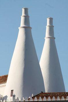 Chaminés do Palácio de Sintra (Palace's chimneys), in Sintra, Portugal.