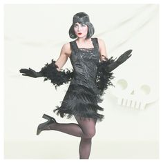 Halloween Women's Flapper Costume S - Hyde and Eek! Boutique, Black